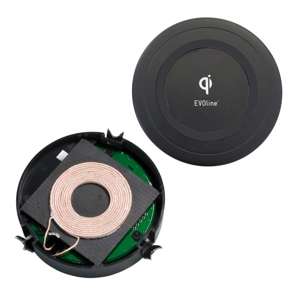EVOline QI Ladegerät zum Einbau in Tischplatten