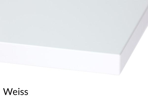 Ecktischplatte Melamin Dekor in 8 Größen